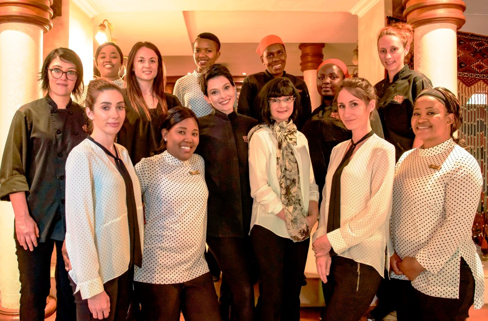 Chantel_and_Mari_Dartnall_front_centre_with_the_Mosaic_girl_power_team._Sommelier_Taryn_Nortje_pictured_front_left.