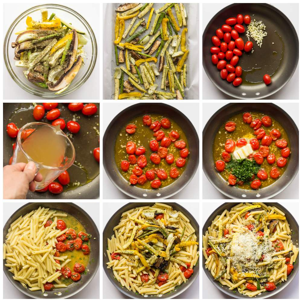 Pasta-Primavera-with-Roasted-Vegetables-Steps